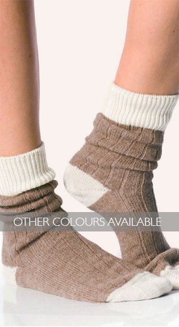 Alpaca bed socks - undyed shades