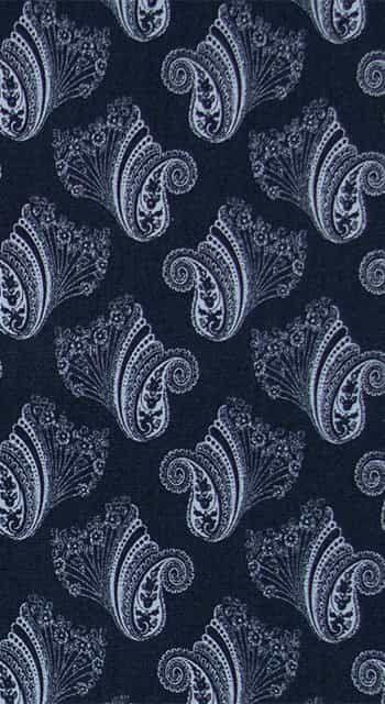 Botany Blue Paisley Pyjama Shorts