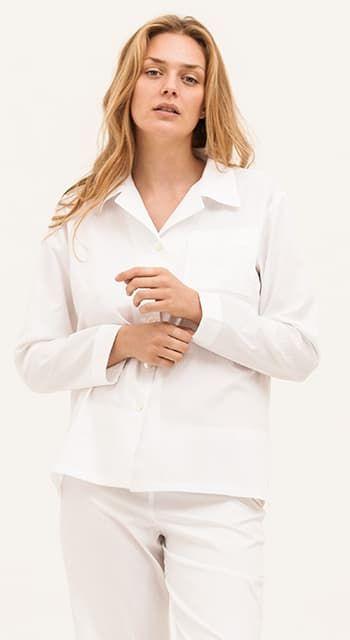 Ice White Stripe Pyjamas