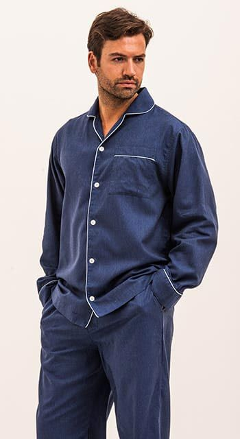 Oxbridge Blue Pyjamas