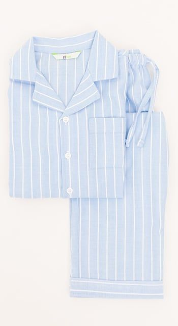 boys red check pyjamas