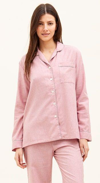 pink wool pyjamas
