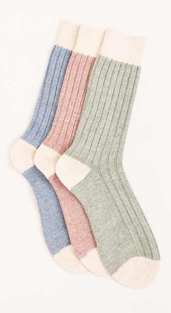 Alpaca bed socks - dyed shades