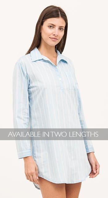 075dd82aac womens turquoise stripe nightshirt ...