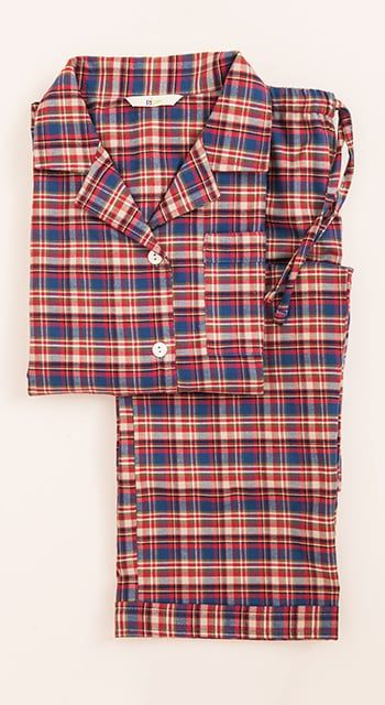 girls festive brushed cotton pyjamas