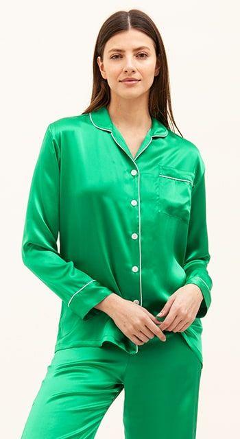 luxury british made silk pyjamas