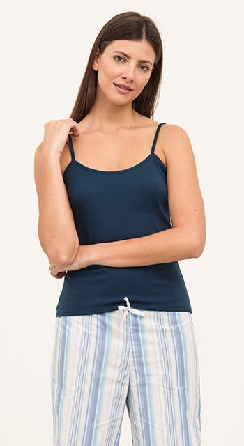 summer pj bottoms in fun blue stripe