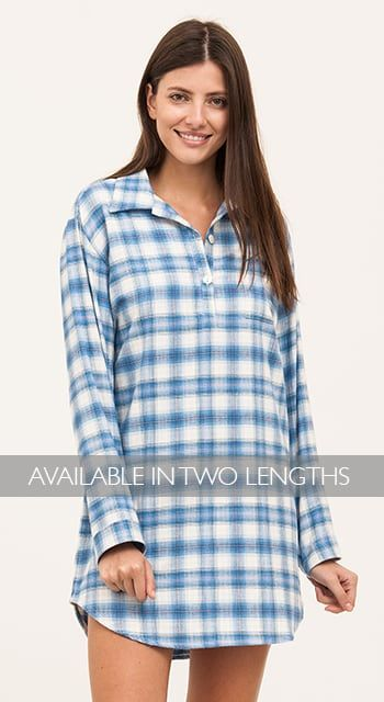 womens pink check nighthirt