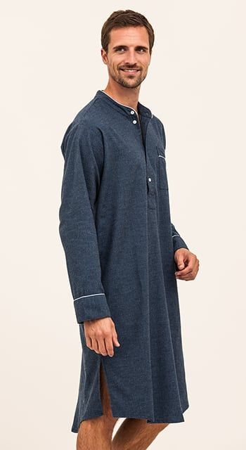 mens luxury nightshirt