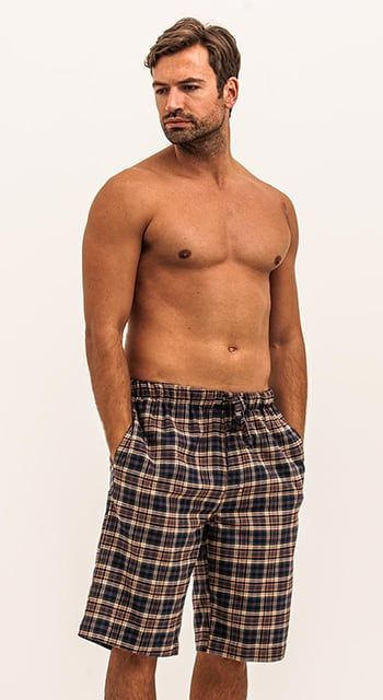 mens brushed cotton pyjama shorts