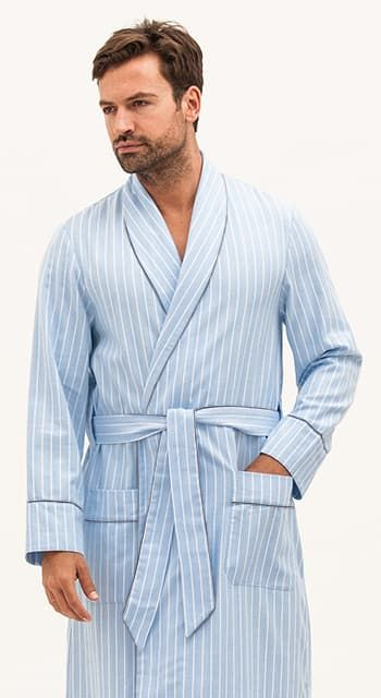 mens luxury brushed cotton robe