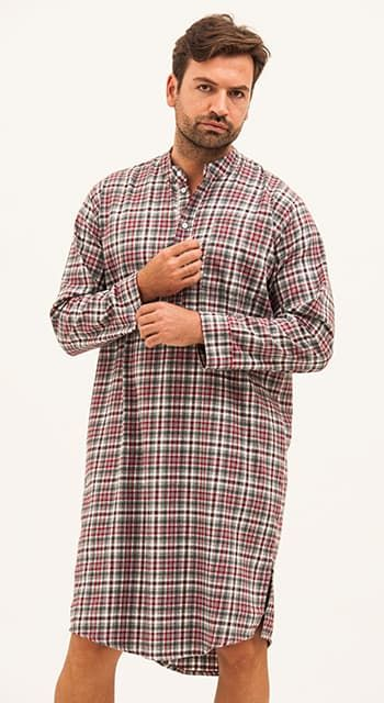 mens warm brushed cotton nightshirt