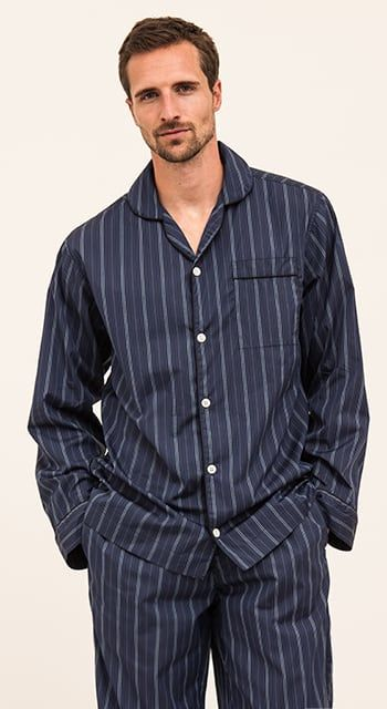 mens two fold egyptian cotton pyjamas