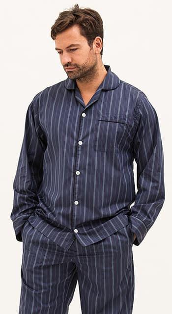 mens two fold egyptian cotton pyjamas