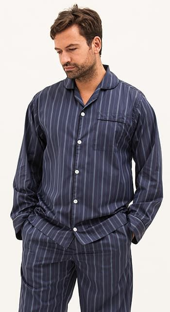 mens luxury cotton pyjamas