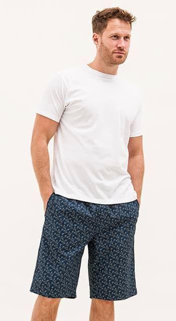 mens elephant pj shorts