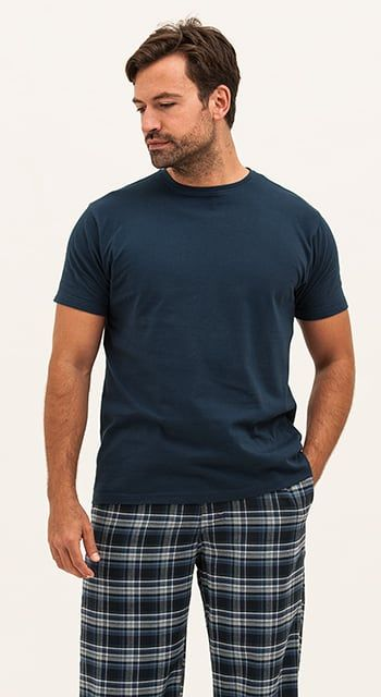 mens brushed cotton pyjama bottoms