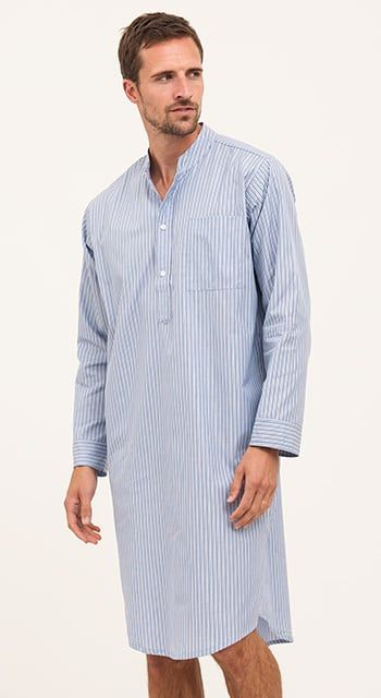 men's luxury nightshirt egyptian cotton