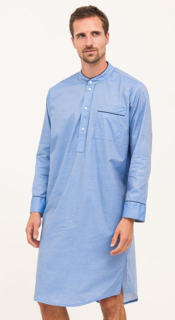 men's quality cotton nightshirt