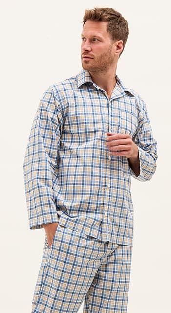 mens luxury cotton pyjamas