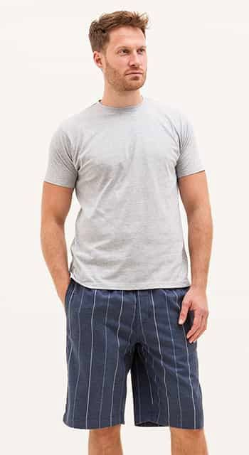 mens brushed cotton pj shorts
