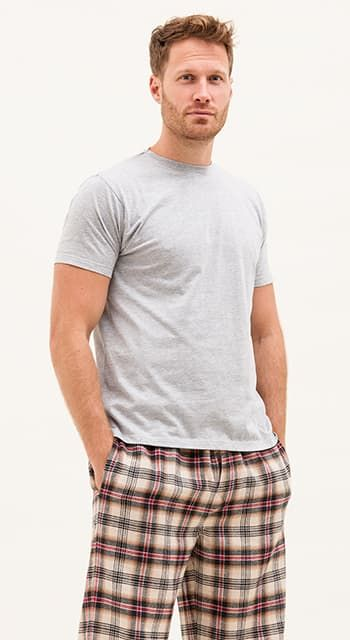 mens plaid pajama pants