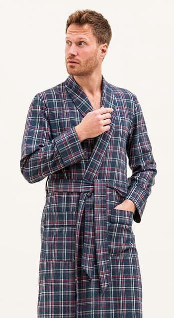 mens luxury wool dressing gown