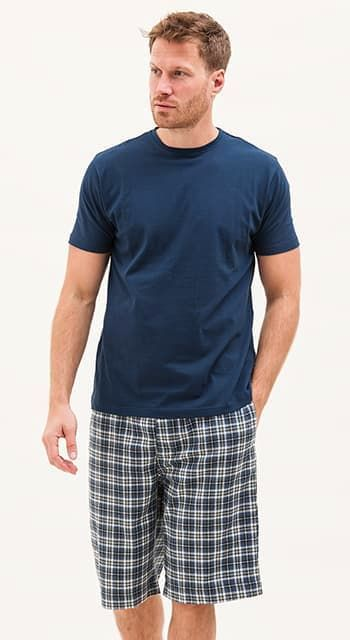 mens organic cotton pyjama shorts