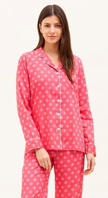 plain pink pyjamas