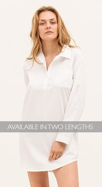 Ice White Stripe Nightshirt