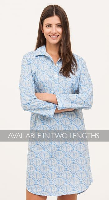 womens turquoise stripe nightshirt