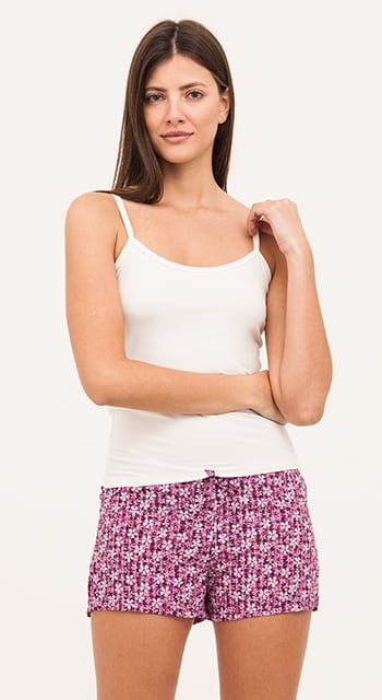 brushed cotton striped pyjama shorts