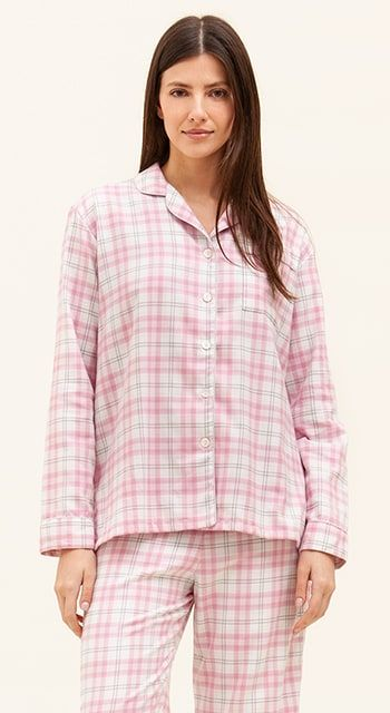 pink brushed cotton pyjamas