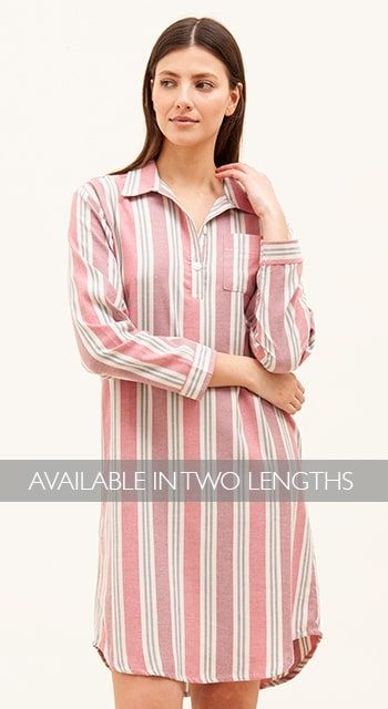 brushed cotton pink nightshirt