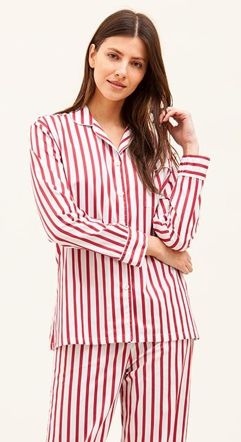 red and white striped pyjamas