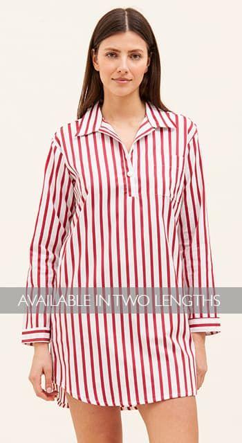 egyptian cotton striped nightshirt