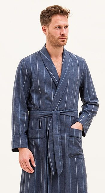 mens plain cotton dressing gown