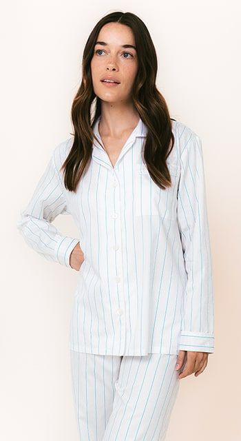 blue egyptian cotton pyjamas