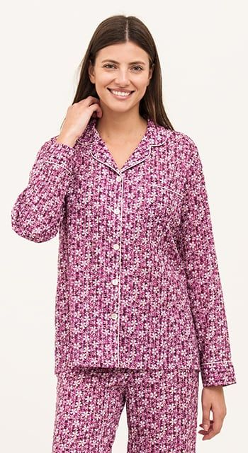cotton lawn pyjamas in pretty flora print