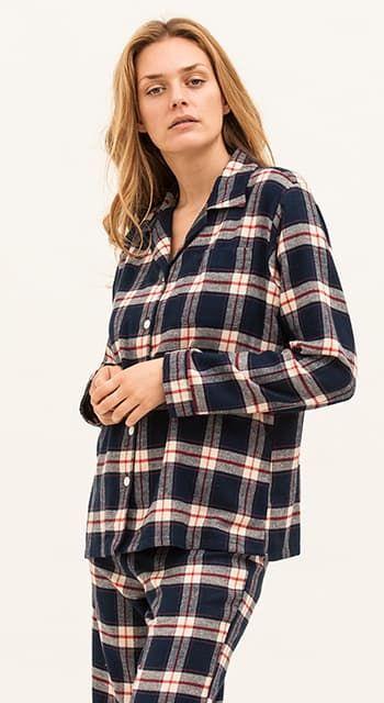 brown check pyjamas