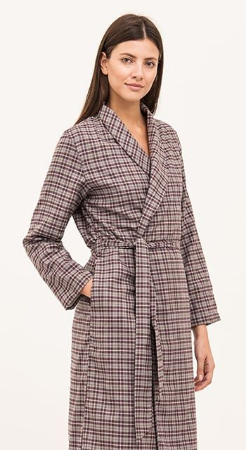 wool dressing gown for women