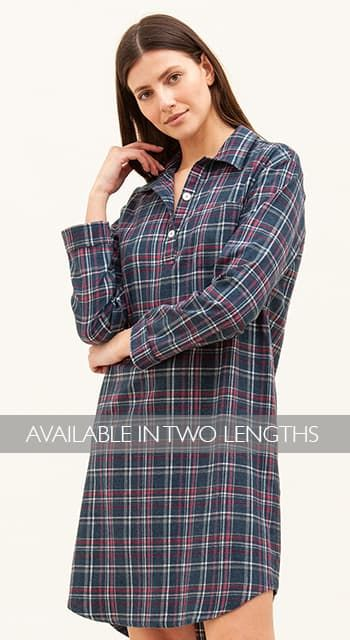 Tobermory Check Wool Blend Nightshirt