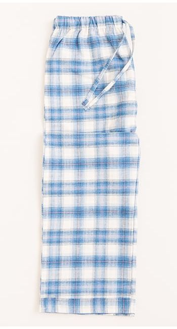 kids pj bottoms in grey check