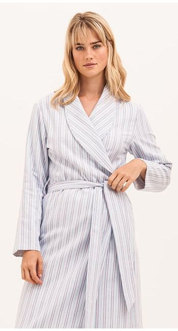 brushed cotton dressing gown