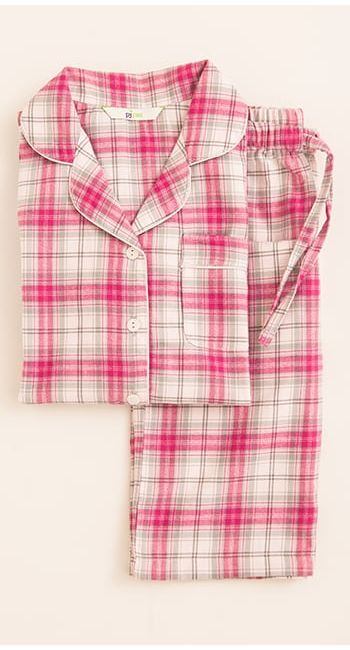 boys red stripe pyjamas