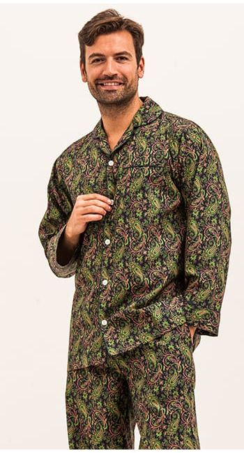 Midnight Blue Paisley Pyjamas