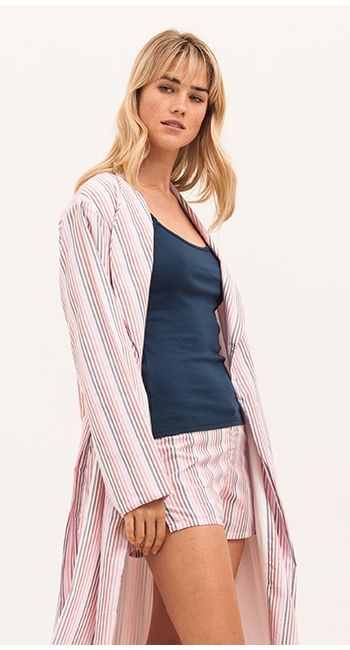 Deckchair Stripe Dressing Gown