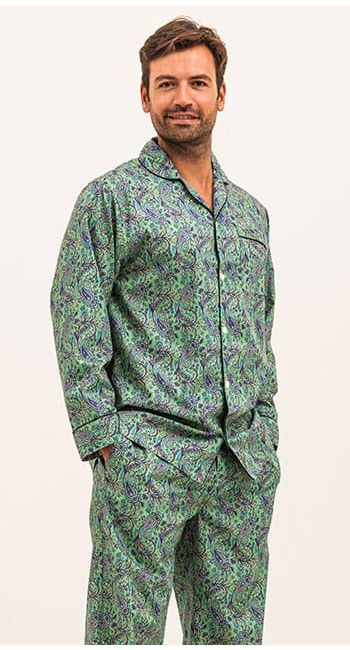Shamrock Green Paisley Pyjamas