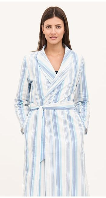 ladies cotton dressing gown