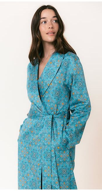 summer cotton dressing gown